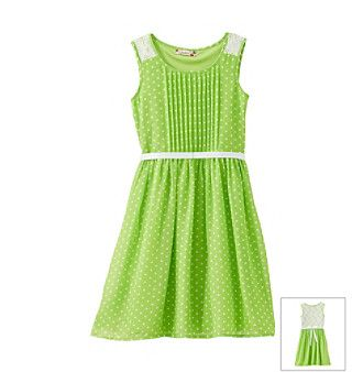 Product: Speechless® Girls' 7-16 Green Polka-Dot Dress
