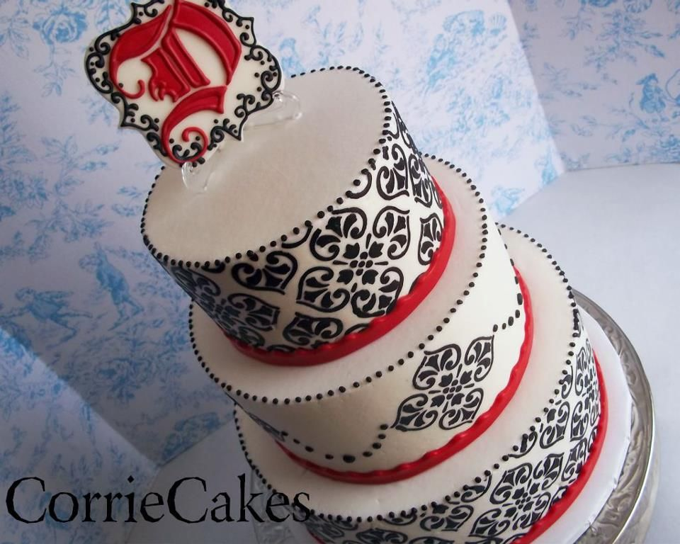 Pic Of Black White And Red Wedding