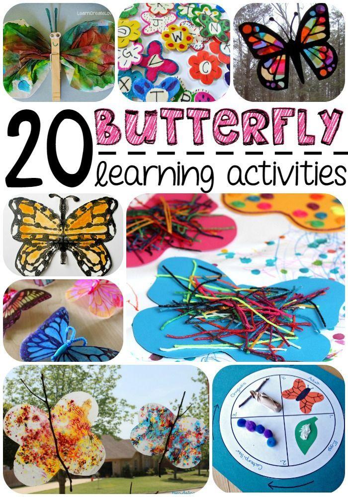 20 Butterfly Learning Activities Butterflies activities