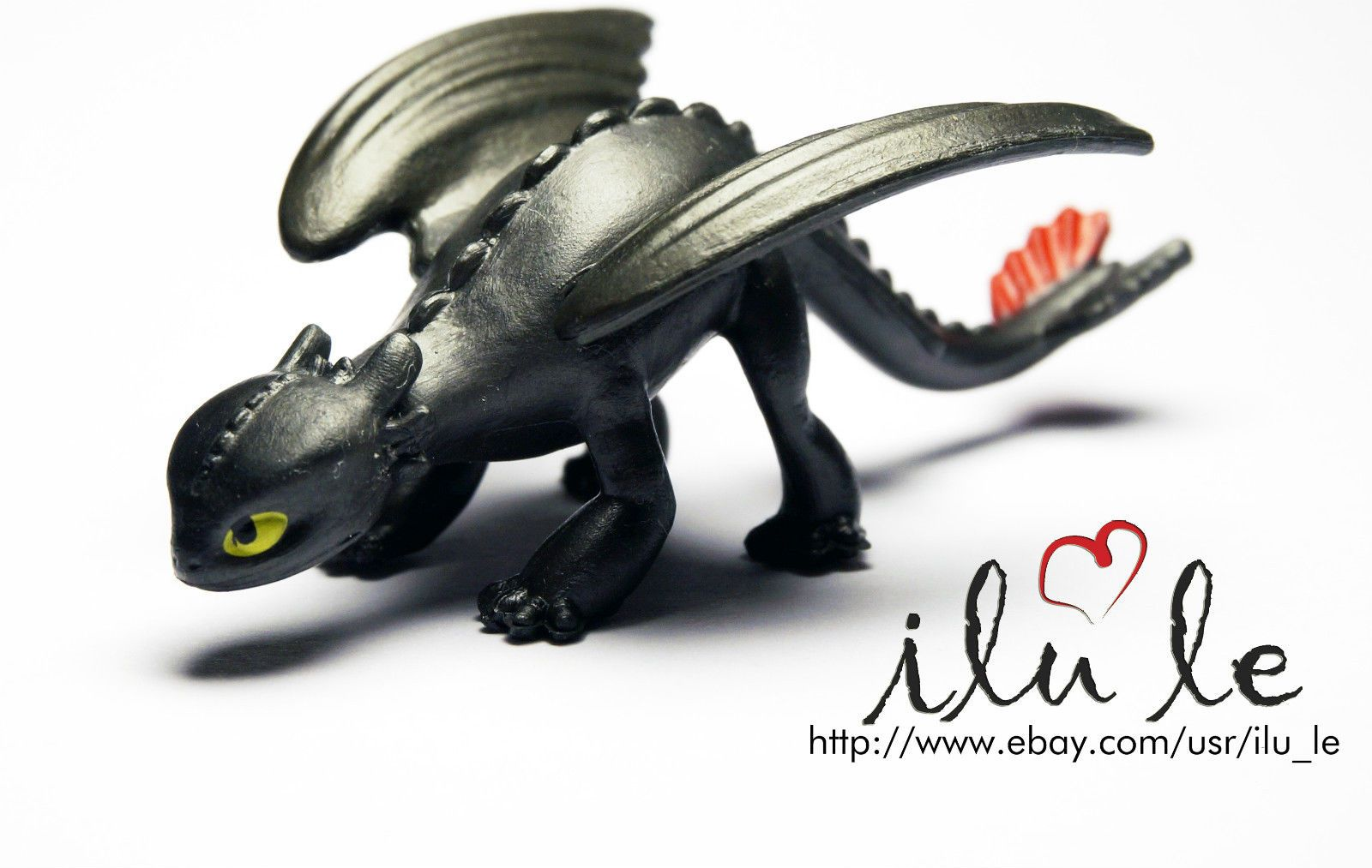 toothless night fury how to train your dragon Black Fury mini ...
