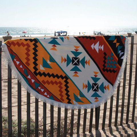 Aztec Round Beach Towel - Round Towel Co.