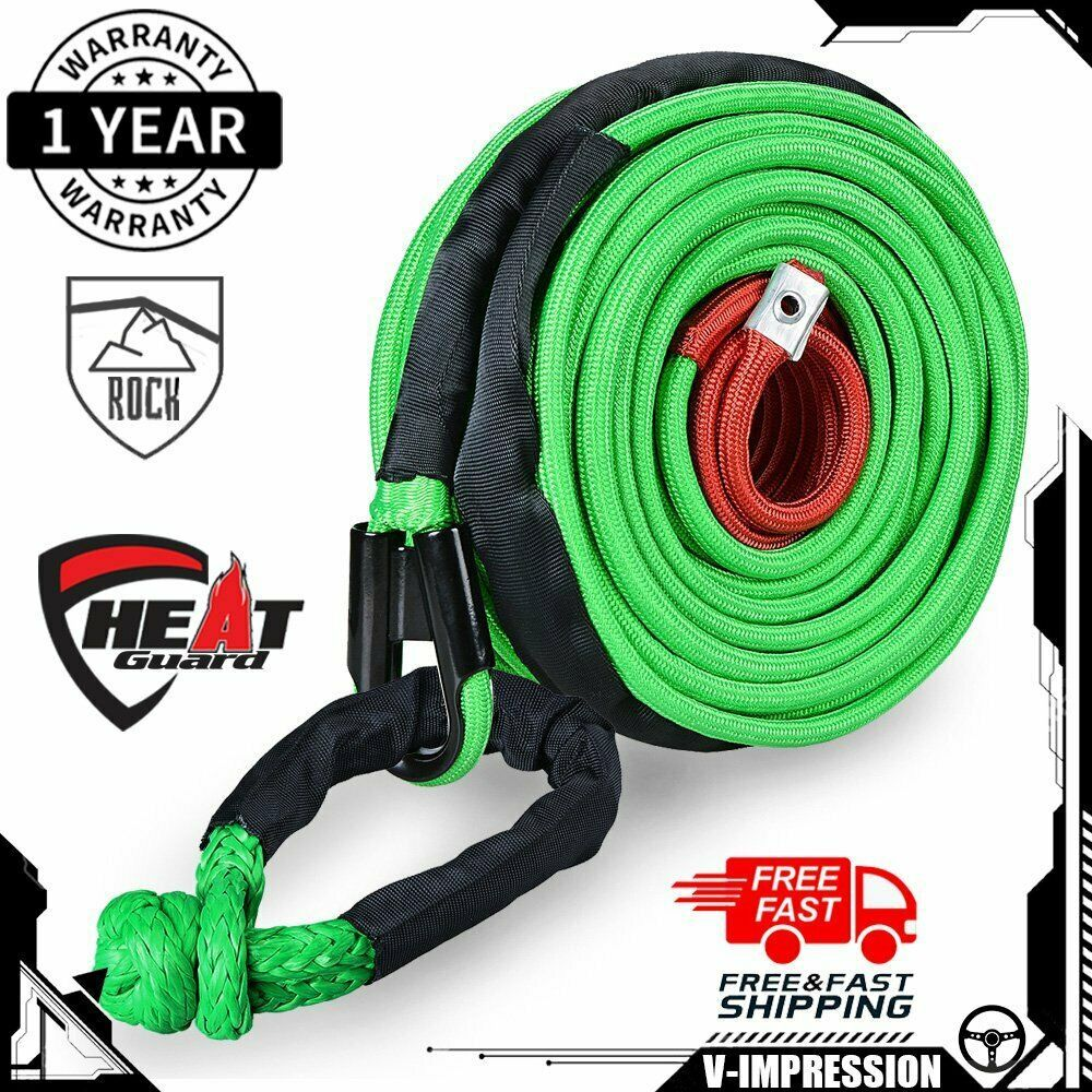 Ebay Sponsored 3 8 X 95 Synthetic Winch Rope Recovery Cable 22000lbs 1 2 Soft Shackle Green Synthetic Winch Rope Winch Rope Winch