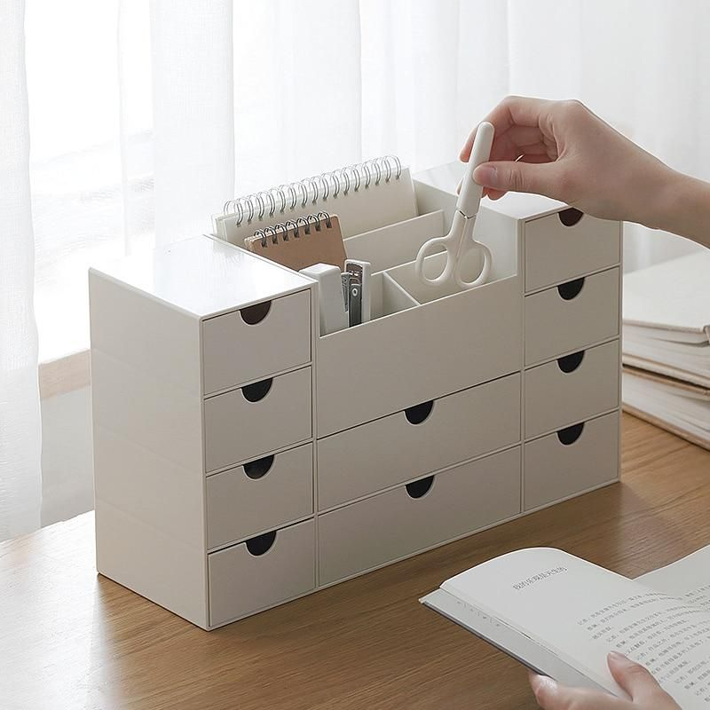 Minimalist Desktop Organizer With 10 Drawers Desktop