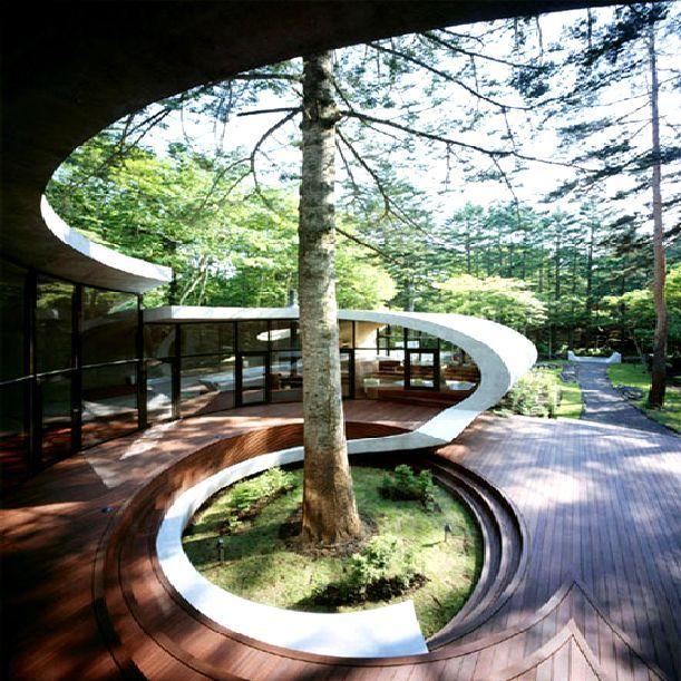 Futuristic Victorian Front Gardens 9 On Garden Design: Futuristic Shell House With Garden Design