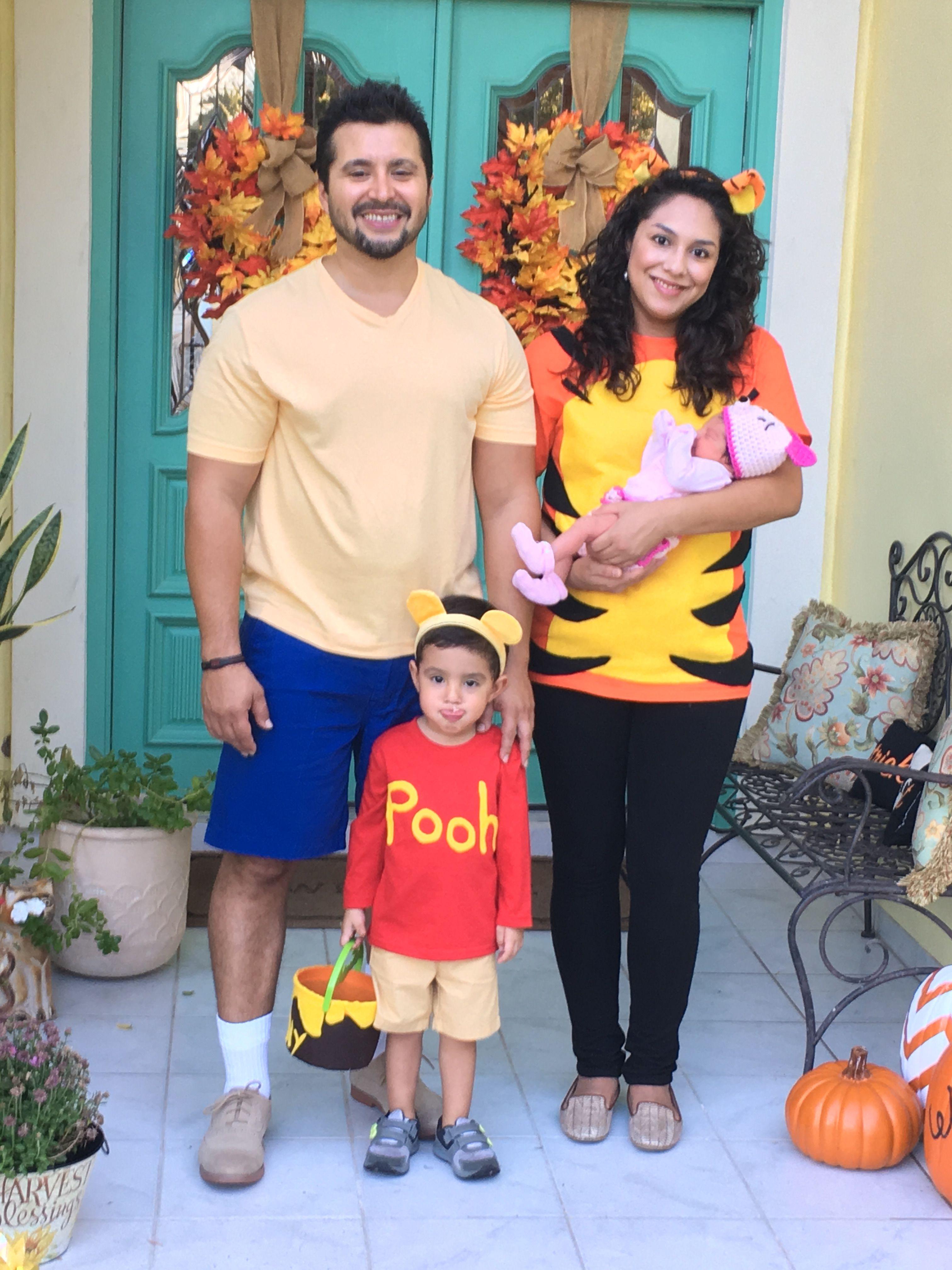 family halloween costume. diy winnie the pooh and friends | pumpkin