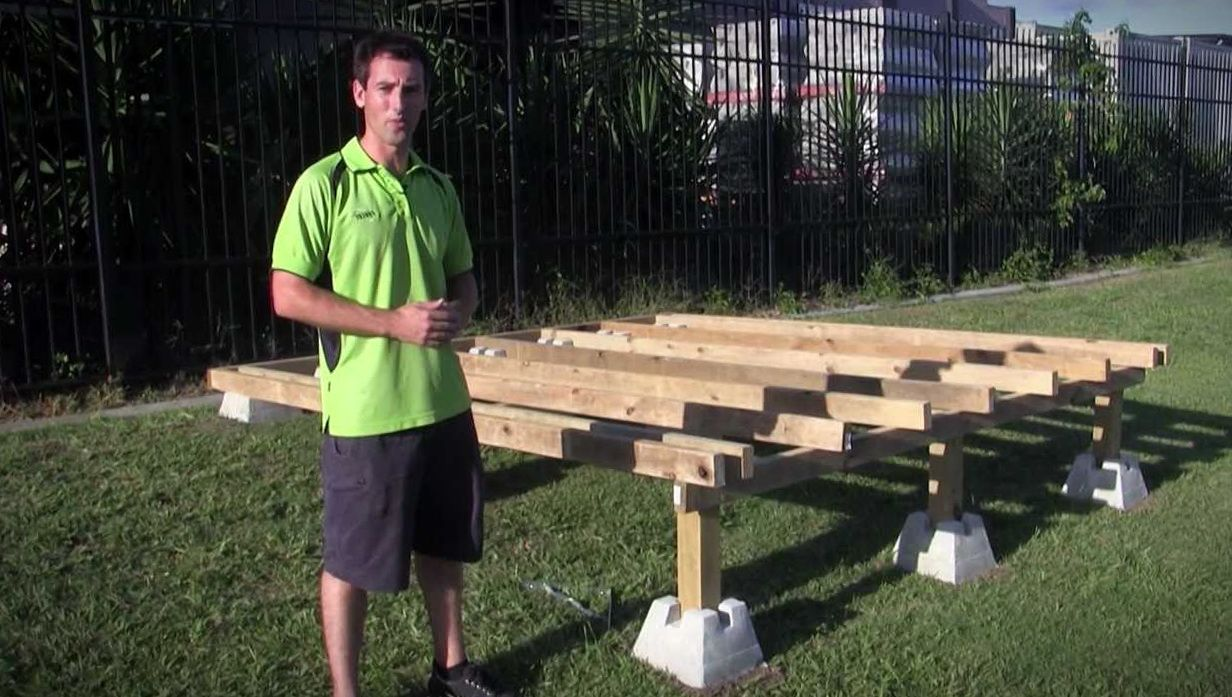 Building a pool deck with dek blocks concrete deck