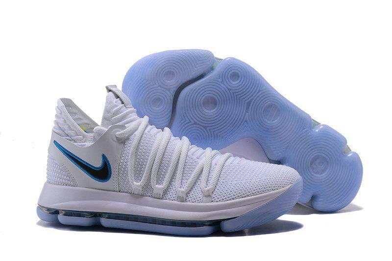 Nike Zoom KD 10 LMTD EP NBA Championship Wolf Grigio Blue White 897816-681  Mens 461afa9db
