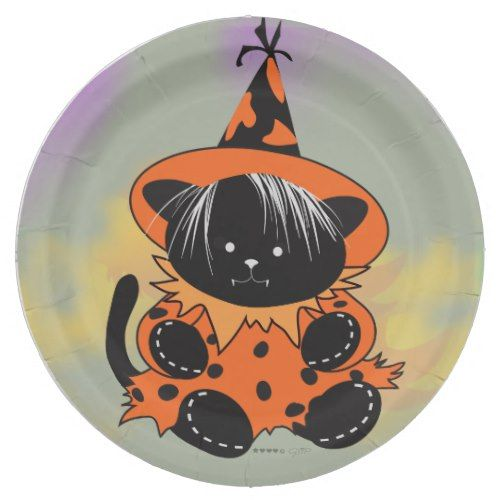 Choose from a variety of plate designs or create your own! Shop now for custom plates \u0026 more!  sc 1 st  Pinterest & PET LITTLE WITCH 2 HALLOWEEN Paper Plates 9\