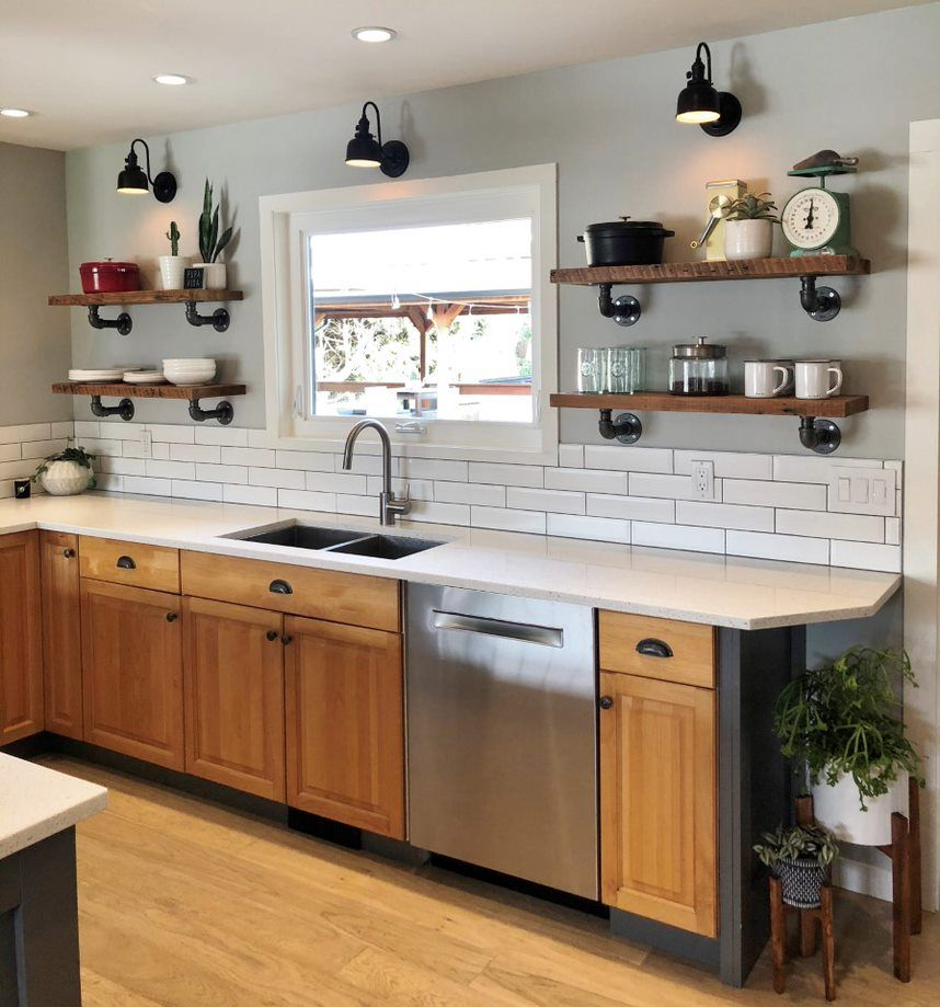 Wall Sconces Schoolhouse Lights For Canadian Reno Inspiration Modern Kitchen Remodel Kitchen Remodel School House Lighting