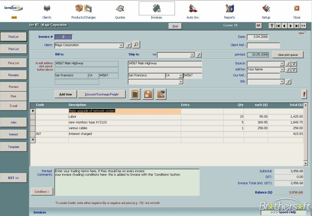 Free Invoice Software Small Business http\/\/www\/gp - invoice making software
