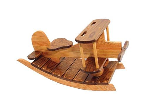 Wooden Motorcycle Rocking Horse Childrens Furniture