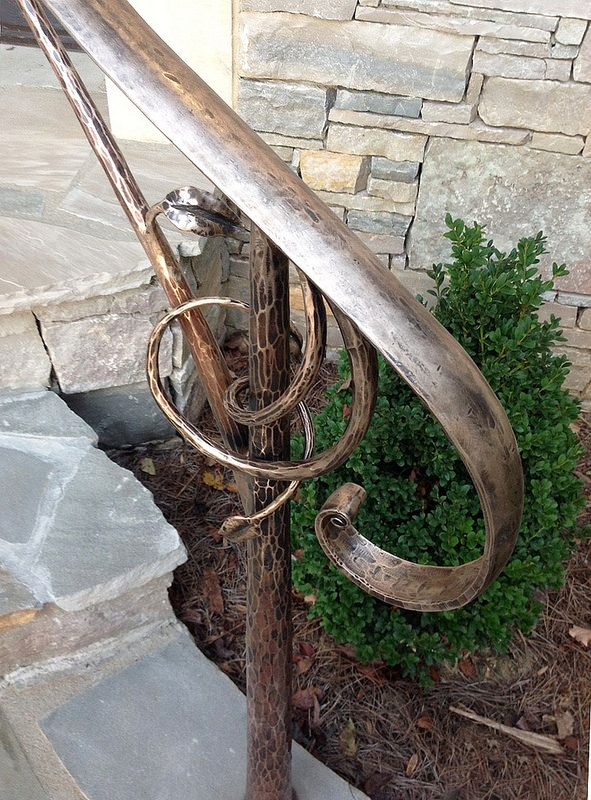 Best Hand Forged Bronze Exterior Hand Rail Detail Wrought 400 x 300