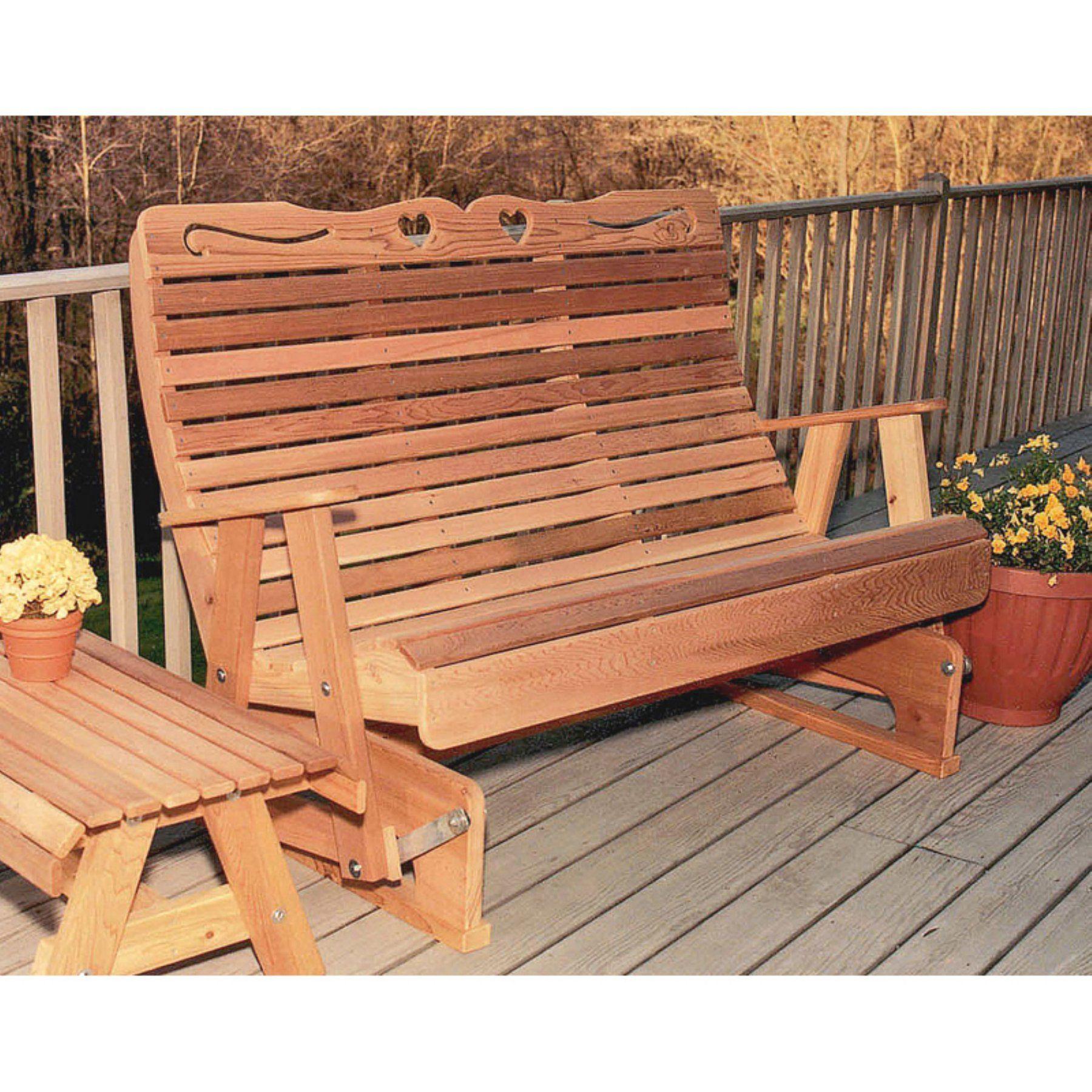 Discount Country Furniture: Creekvine Designs Country Hearts Cedar Bench Glider