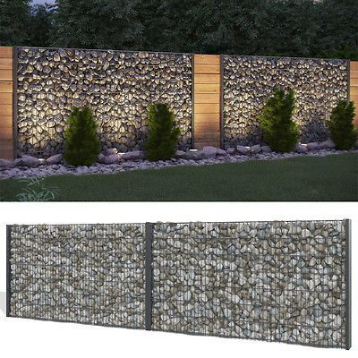 7 Staggering Front Yard Fence Gate Ideas In 2020 Gabion Fence