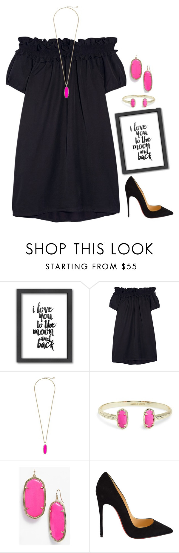 """""""{oh how I love love}"""" by lydia-hh ❤ liked on Polyvore featuring Americanflat, Clu, Kendra Scott, Christian Louboutin, women's clothing, women, female, woman, misses and juniors"""