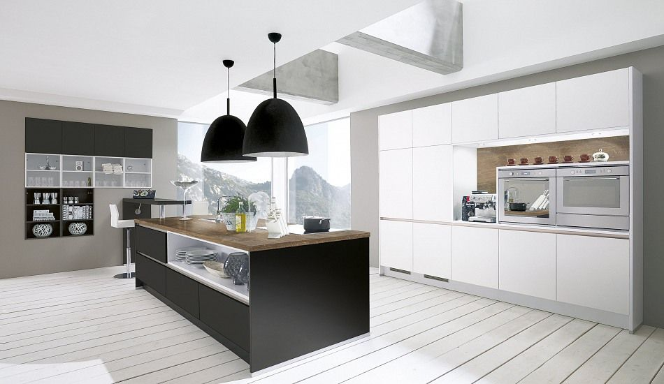 Einbauküche Adina Umbraschwarz Schwarze Küchen Pinterest - einbauküchen für kleine küchen