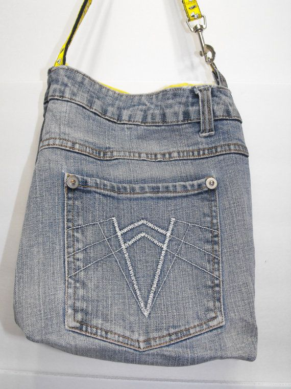 Jeans denim reclaimed recycled upcycled cross by tamlencreations