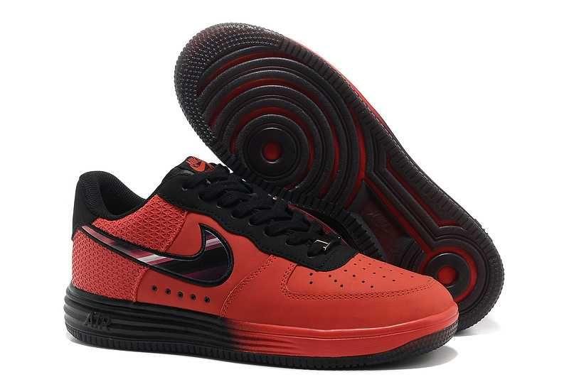 buy popular e9ce6 f4034 1830   Nike Lunar Force One Low Herr University Svart Röd SE012079GoebBa