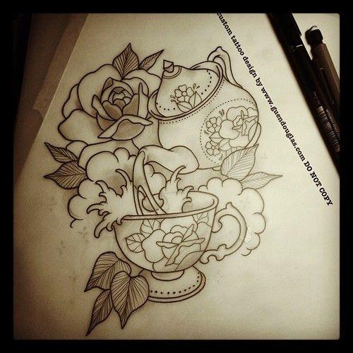 Teacup Tattoo Coffee Tattoos: Best 25+ Cup Tattoo Ideas On Pinterest