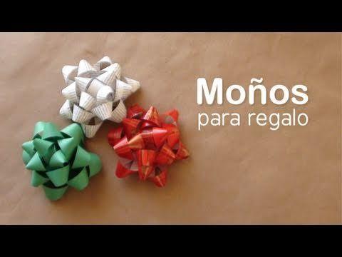 Como hacer un mo o para regalo diy gift bows youtube - Como hacer monos ...
