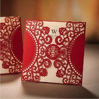 Laser cut wedding invitations cheap red chinese xi wedding laser cut wedding invitations cheap red chinese xi wedding invitations laser cut elegant stopboris Choice Image