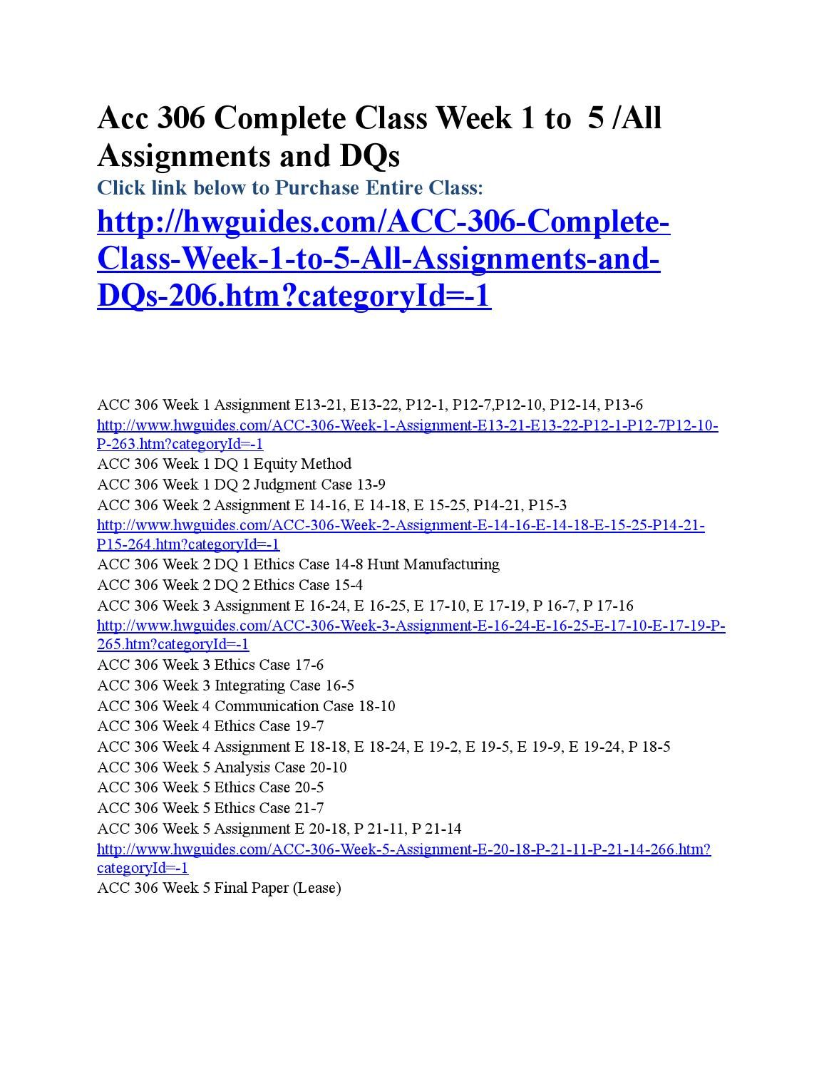 Acc  Complete Course  Complete Courses And Assignments