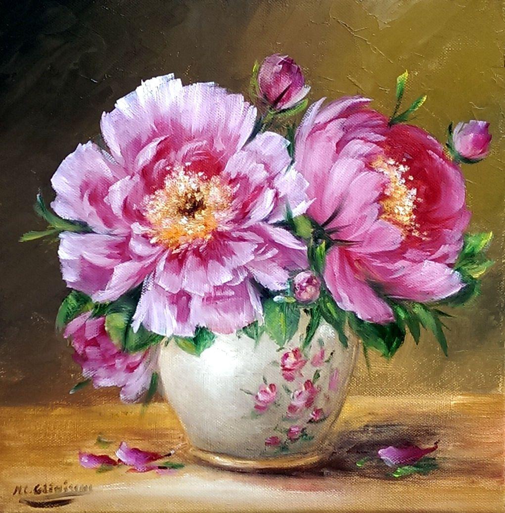 Les jolies pivoines du jardin de Chrispaint Flowers Glénisson, embelliront votre logis. Toile de ...