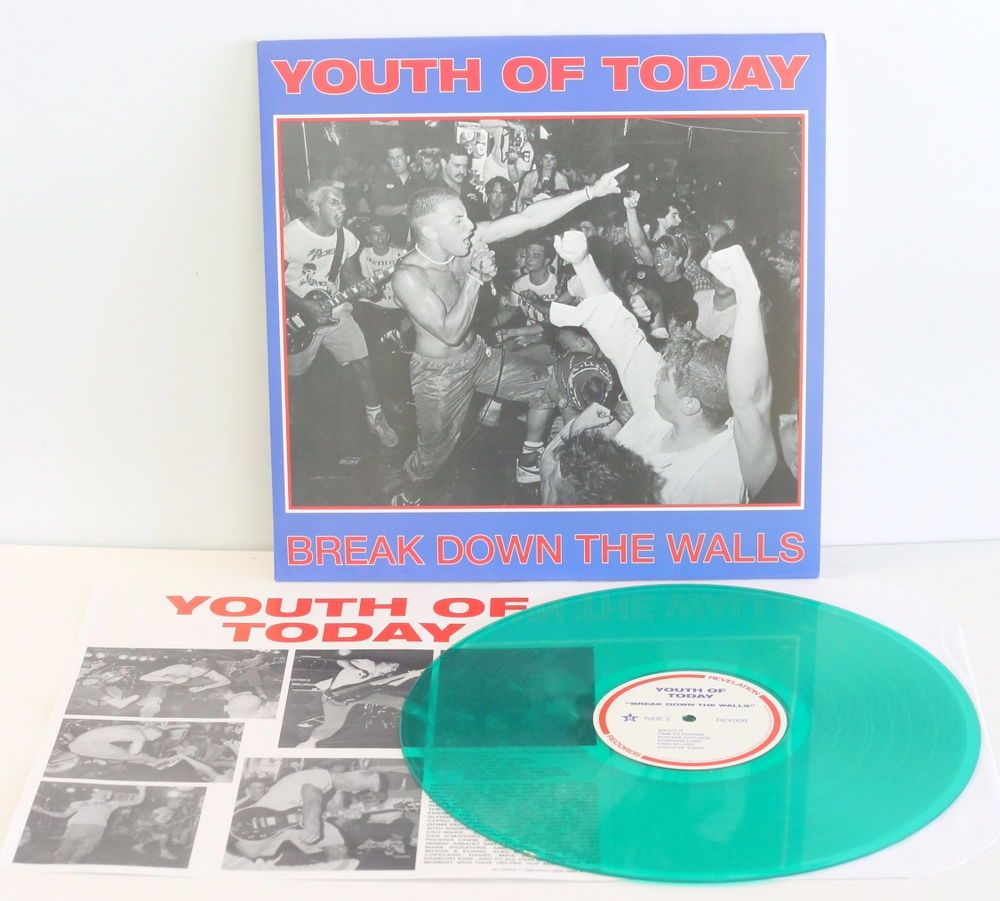 Youth Of Today Break Down The Walls Lp Record Green Vinyl Shelter Judge Punkhardcorepunknewwave