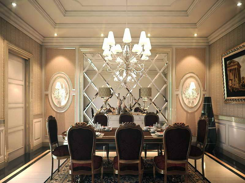 Wallpaper Ideas Dining Room Part - 18: Wallpaper Designs For Dining Room With Roman Style