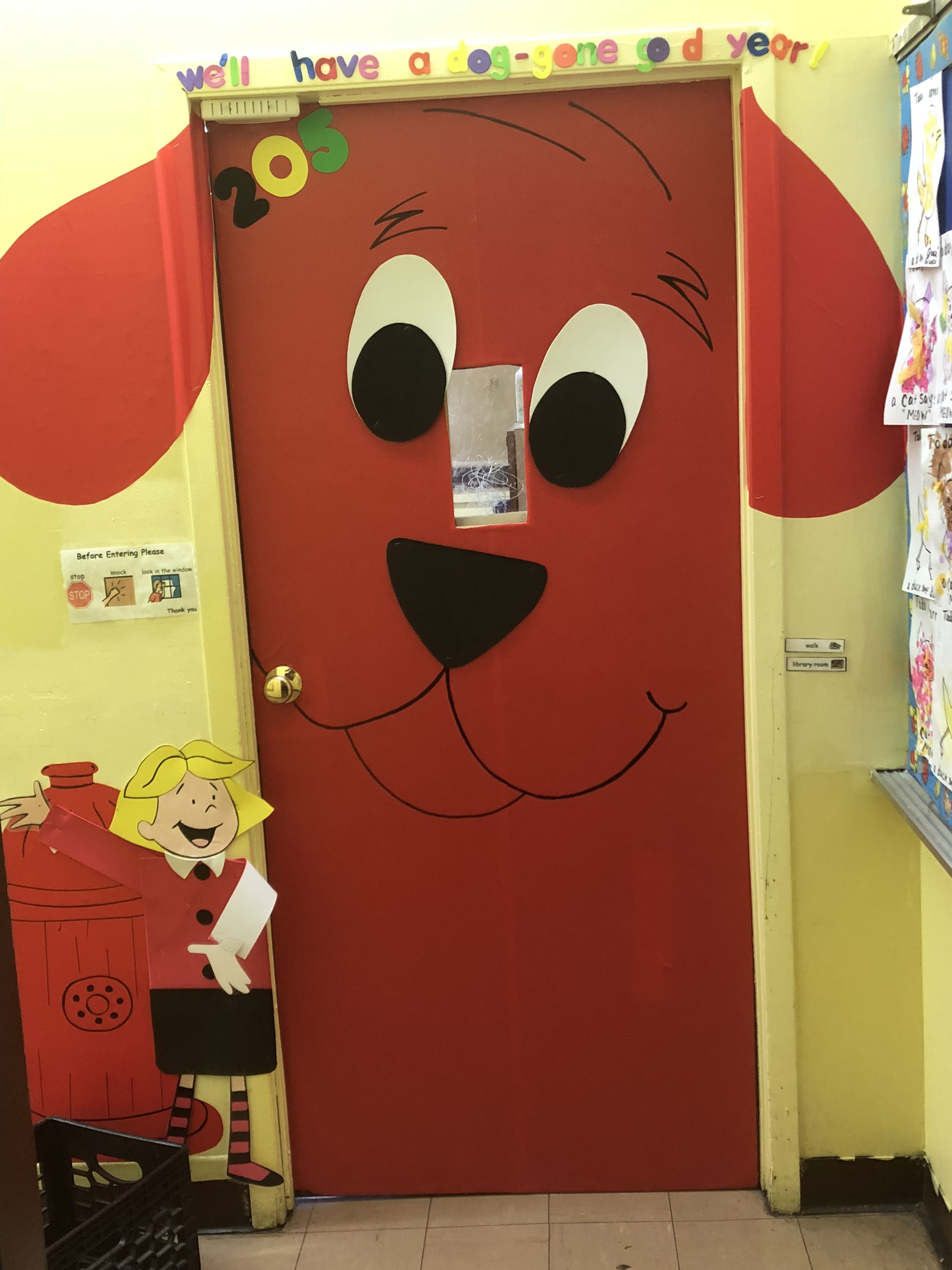 Clifford The Big Red Dog Classroom Door With Images