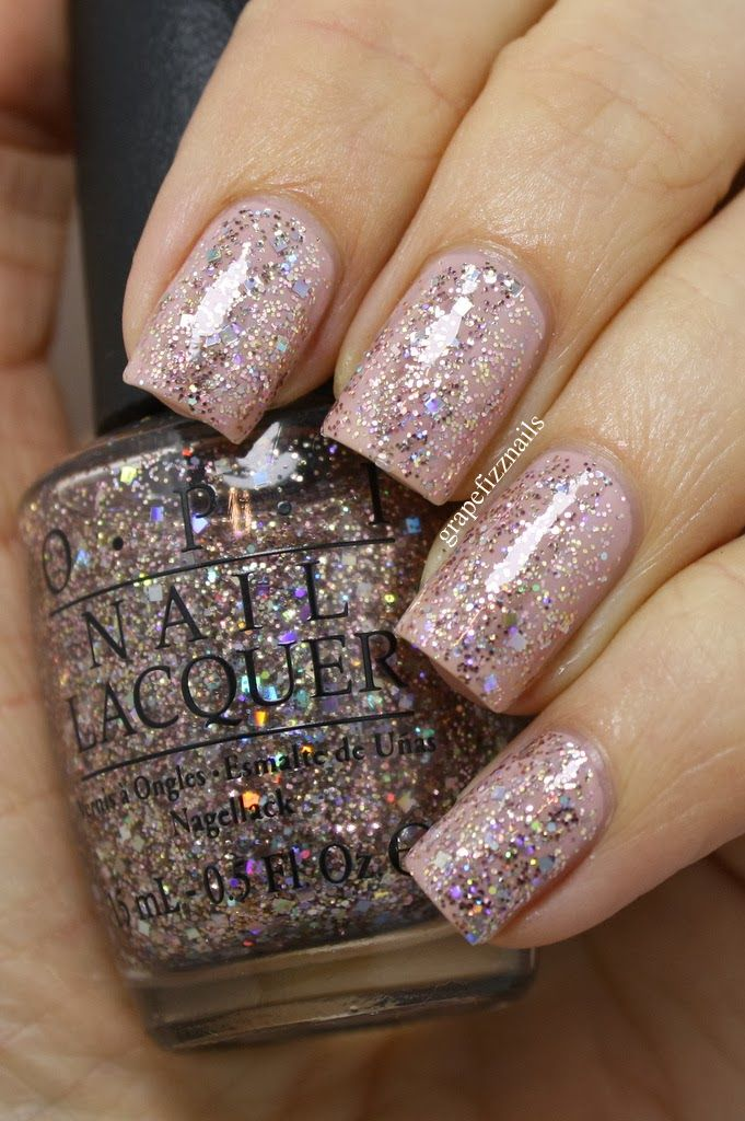 Grape Fizz Nails Opi Spotlight On Glitter Collection