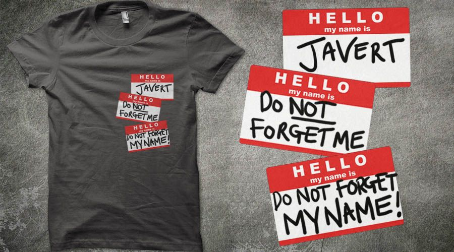 I MUST HAVE THIS SHIRT!!! Oh my goodness it's perfect! hahahaha! (And no, not Doctor Who, but this seemed the most logical board for it. ;-) ) --Do Not Forget Me | Qwertee : Limited Edition Cheap Daily T Shirts | Gone in 24 Hours | T-shirt Only £8/€10/$12 | Cool Graphic Funny Tee Shirts