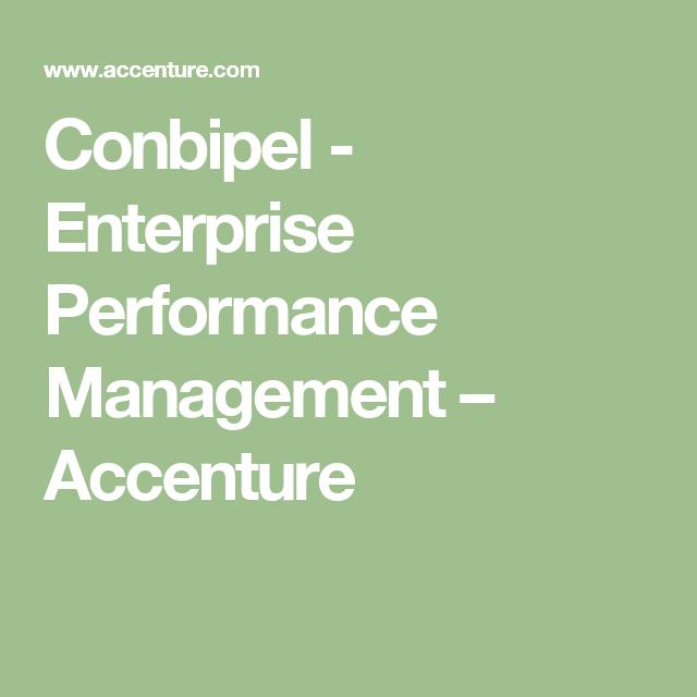 Conbipel - Enterprise Performance Management – Accenture   Accenture