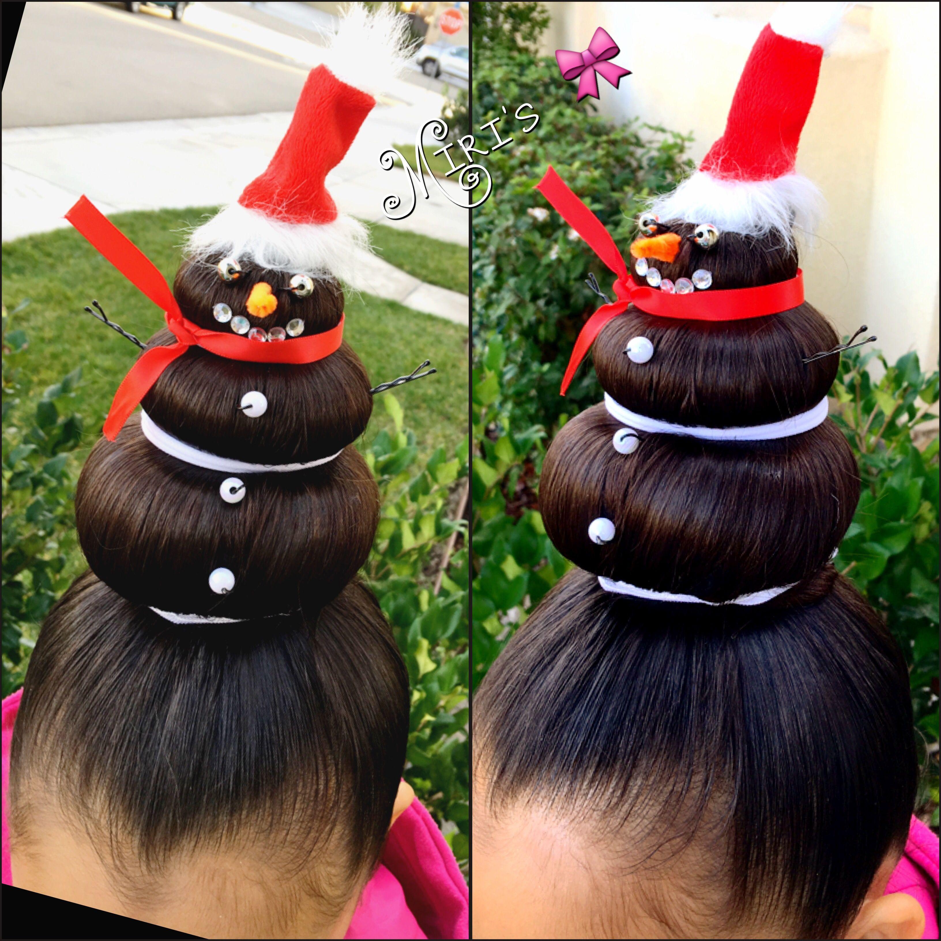 Chirstmas Hair Style For Little Girls Crazy Hair For Kids Artistic Hair Christmas Hair