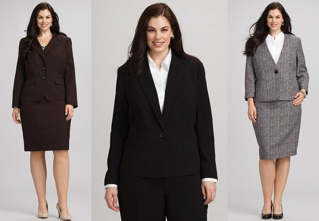 Plus-size women's business office attire - Tips about what to wear ...