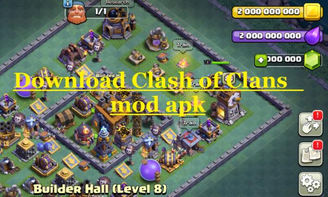 clash of clans mod apk unlimited money elixir and gems