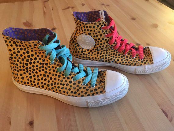RARE Converse x Merimekko Spotted Polka Dot Leopard Print