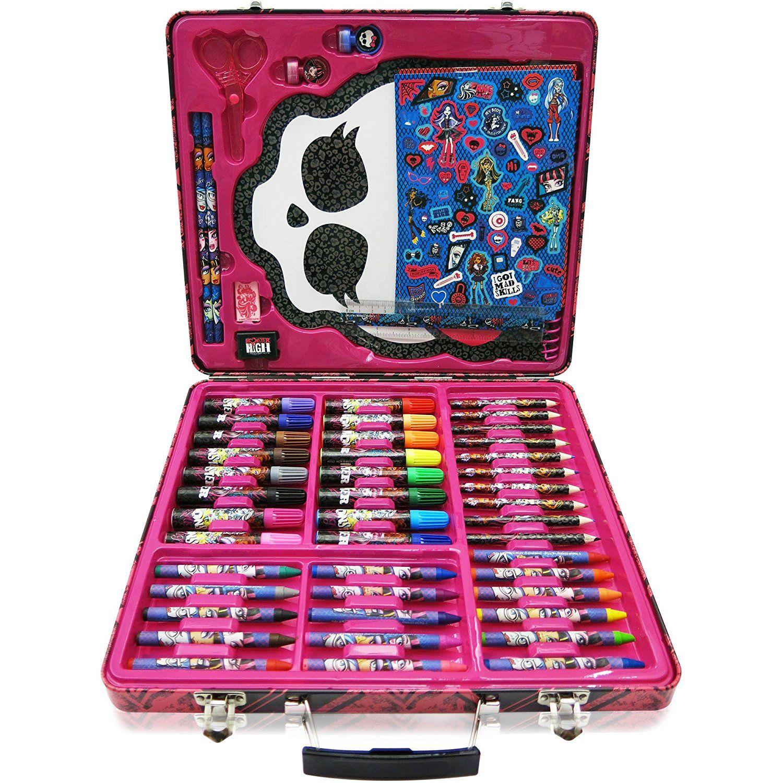 150pc kids art supplies set gift tin case