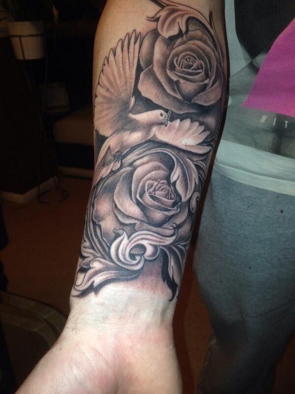 rose dove tattoo tattoo pinterest dove tattoos tattoo and rose rh pinterest co uk dove and rose tattoo meaning dove and rose tattoo sleeve