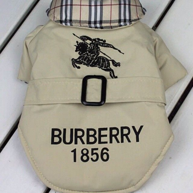Something For Your Puppy Burberry Inspired Warm Coat With Hood For Your Little Dog Size Buynow 45 Inselly Boy Dog Clothes Puppy Clothes Pet Clothes