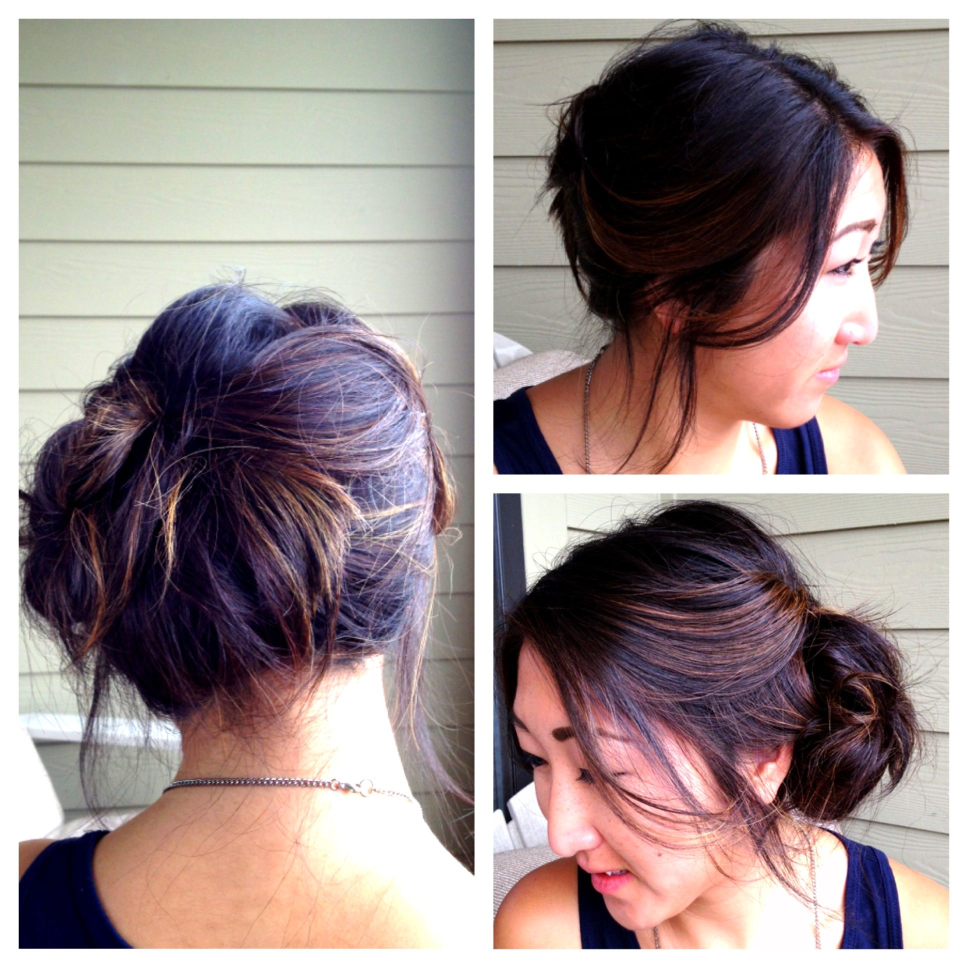 Side Bun Hairstyles Cool Messy Side Bun Hairstyle  Makeup & Hair  Pinterest  Side Bun