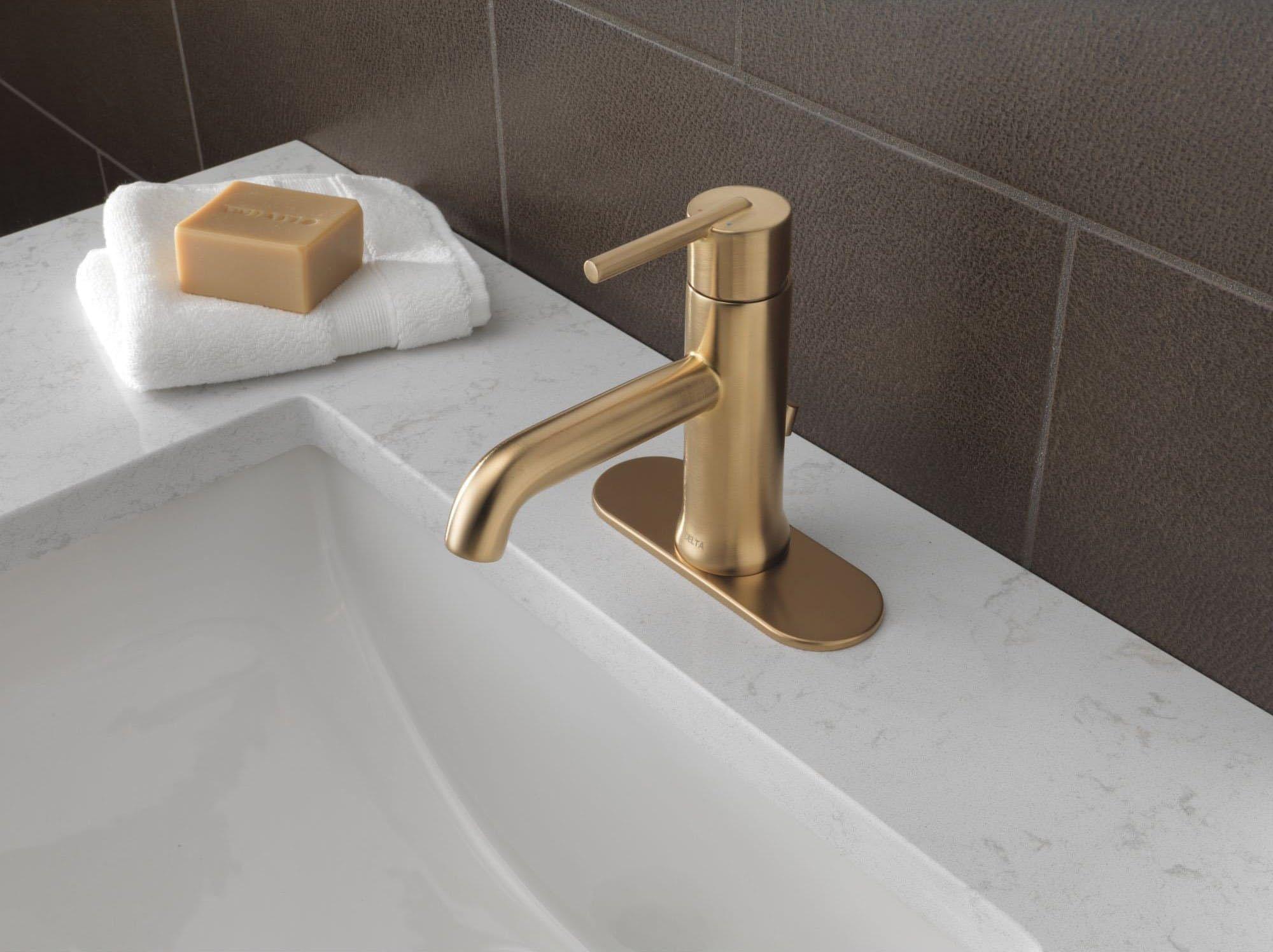 brass fixtures for the bathroom