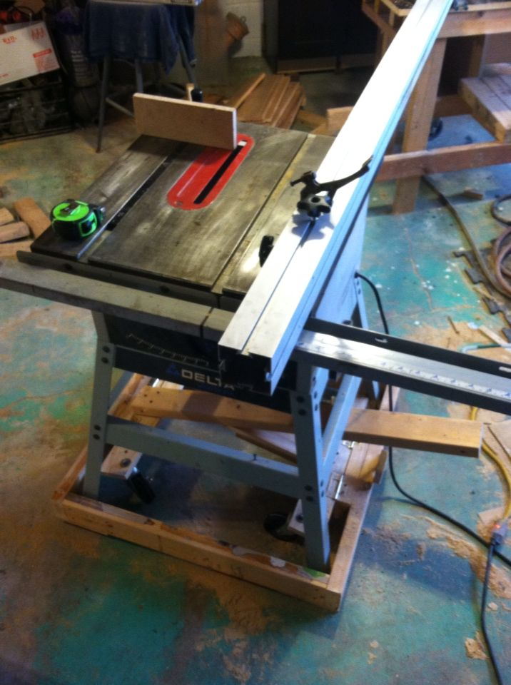 Table Saw Upgrades Diy Biesmeyer Fence From Reclaimed 3 X3 Extruded Aluminum Temporary Mobile Base For Moving