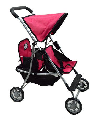 Look what I found on #zulily! Fuchsia Twin Stroller for 18'' Doll by The New York Doll Collection #zulilyfinds