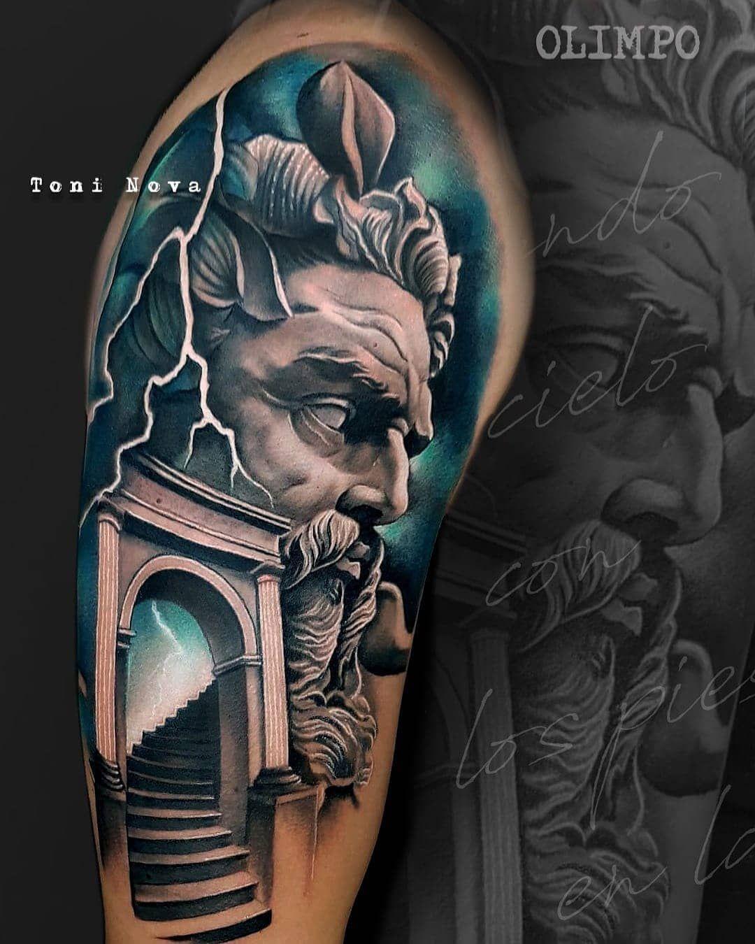 Tattoo Artist Toni Nova Zeus Tattoo Greek Tattoos Greek God Tattoo