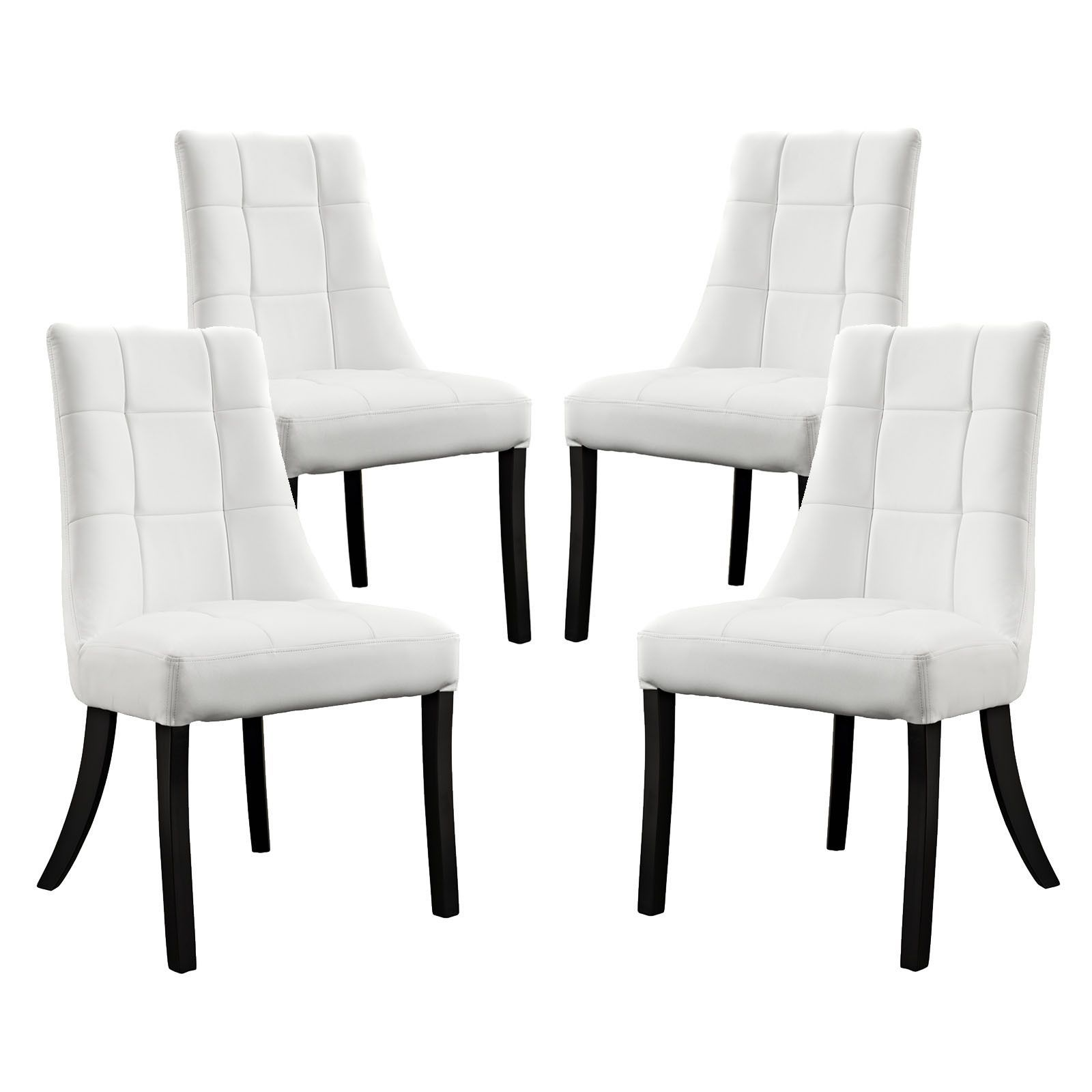 Buy Noblesse Vinyl Dining Chair Set Of 4 At Harvey & Haley For Extraordinary Dining Room Chair Set Of 4 2018