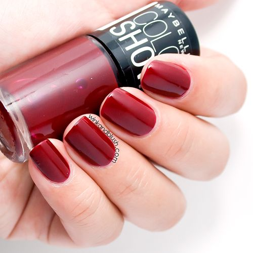Maybelline Downtown Red Colorshow Nail Polish Review & Swatches ...