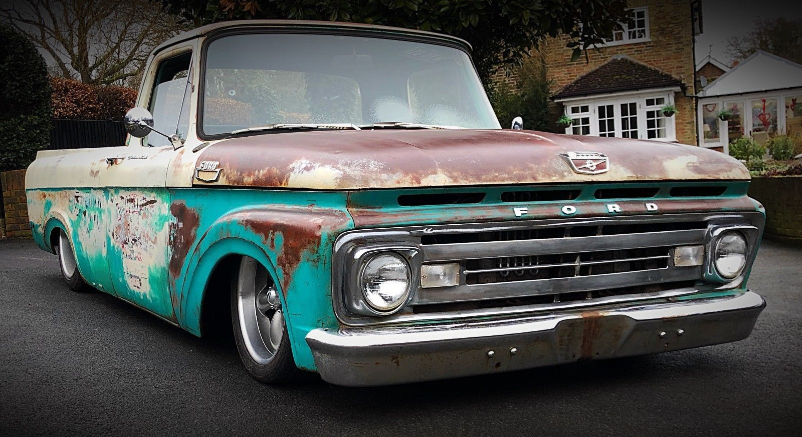eBay: American Ford F100 Air Ride Short Bed Pickup Truck Chevrolet ...