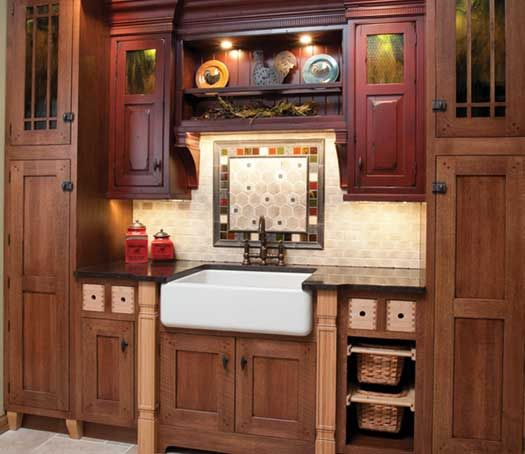 Quarter Sawn Oak Kitchen Cabinets: Kitchen Remodel With Island. Perimeter