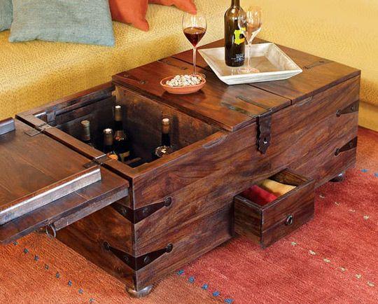 Store Wine In The Living Room Wine Bar Treasure Trunk